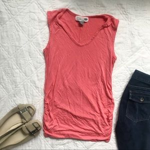 Old Navy Maternity Coral Scoop Neck Tank S